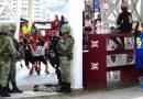 Vigilancia de fuerzas armadas en juegos escolares en Acapulco.