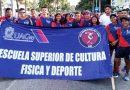 Estudiantes de Cultura Física y Deporte participaron en Desfile deportivo.